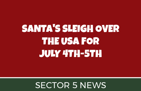 Santa's Sleigh Coming to Sector 5